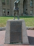 Man's Best Friend - the Monument to Old Drum in the town of Warrensburg, Missouri